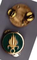 Légion Etrangère. Infanterie. Insigne De Collet. La Paire. Béraudy-Vaure. Pin's - Armée De Terre