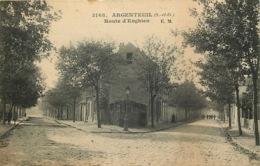 VAL D'OISE  ARGENTEUIL Route D'Enghien - Argenteuil