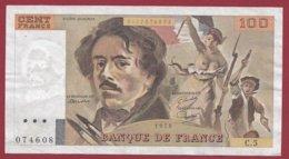 "100 Francs ""Delacroix"" 1978 ---F/TTB+--ALPH .C.5 - 100 F 1978-1995 ''Delacroix''"