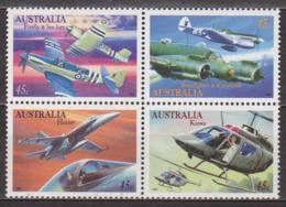 Aviation Militaire - AUSTRALIE - Avions - Hélicoptères - N° 1487 à 1490 ** - 1996 - Ungebraucht