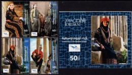 Jordan - 2019 - Euromed - Costumes Of The Mediterranean - Mint Stamp Set + Souvenir Sheet - Jordan