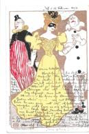 CPA ROBERT ENGELS CARNEVAL ART NOUVEAU JUGENDSTIL KUNSTLER POSTKARTE 26 - Autres Illustrateurs
