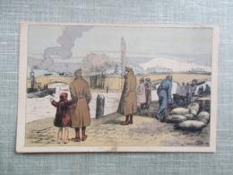 CPA 76 ROUEN ILLUSTREE HIVER 1917 TEMPS DE GUERRE - Rouen