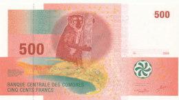 BILLET-BANQUE CENTRALE DES COMORES  CINQ CENTS  FRANCS - Comoros