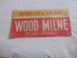 Chapeau Papier Publicitaire Semelles Et Talons Wood-milne - Reclame