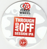 FIXED WHEEL BREWERY (HALESOWEN, ENGLAND) - THROUGH AND OFF SESSION IPA - KEG CLIP FRONT - Uithangborden