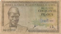 BILLET-BANQUECENTRALE DE LA    REPUBLIQUE   DE GUINEE CINQUANTE    FRANCS - Guinée