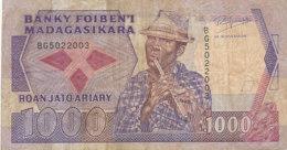 BILLET-BANQUE BANKY  FOIBEN'I  MADAGASIKARA MILLE  FRANCS - Madagaskar