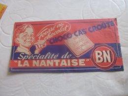 """Chapeau Papier Publicitaire Choco BN""""la Nantaise"""" - Publicités"""