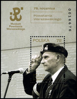 Poland 2019 Fi BLOK 338 Mi BLOCK 292 75th Anniversary Of The Warsaw Uprising - 1944-.... República
