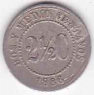 Colombie. 2 1/2 Centavos 1886. Copper-nickel .KM# 182 - Kolumbien