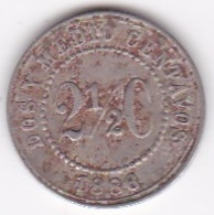 Colombie. 2 1/2 Centavos 1886. Fautée  Le 6 Est Fermé  Resemmble à Un 8 Copper-nickel . - Colombia