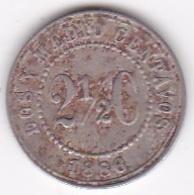 Colombie. 2 1/2 Centavos 1886. Fautée  Le 6 Est Fermé  Resemmble à Un 8 Copper-nickel . - Colombie