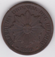 REPUBLICA ORIENTAL DEL URUGUAY. 4 CENTESIMOS 1869 A Paris , Superbe - Uruguay