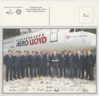 Aéro Lloyd FC Bayern München Avec Signature De L'équipe Pour Le Baptême D'un Airbus A321 - Reclame