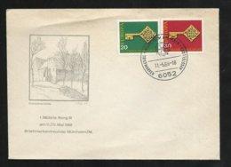 Allemagne FDC  Lettre Illustrée  Premier Jour Mühlheim  Le 11/05/1968 Les N°423 Et 424 Europa 1968   TB  Soldé ! ! ! - Europa-CEPT