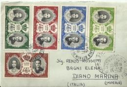 "5308 "" LETTERA IN BIANCO INVIATA DAL MITTENTE A LUI STESSO-1956-WEDDING OF PRINCE RAINIER III & GRACE KELLY  ORIG. - Covers & Documents"