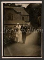 Photo Ancien / Original / 1931 / Wedding / Mariage / Lancaster / England / Bride / Photo Size: 6.30 X 9 Cm. / 2 Scans - Personnes Anonymes