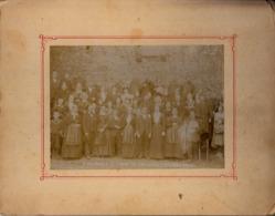 Thematiques 35 Ille Et Vilaine St Aubin Du Cormier 1907 Photo Groupe Lieu Et Personnes A Identifié - Lieux