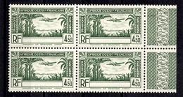 Timbre Série Coloniale Française Poste Aérienne AOF De 1940 Sans Légende En Bloc De 4 Neufs ** MNH. TB. A Saisir! - France (ex-colonies & Protectorats)