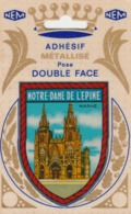 REF.HP . 51 . L'EPINE . BLASON ADHÉSIF MÉTALLISE - L'Epine