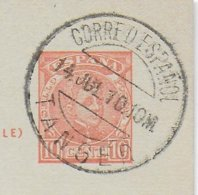 ESPAGNE - 1910 - CARTE ENTIER OBLITEREE TANGER (MAROC) ! - Ganzsachen