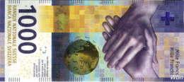 Suisse 1000 Francs (Pnew) 2017 (Pref: M) Sig: Studer&Jordan -UNC- - Suiza