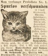 Original-Werbung/ Anzeige 1887 - KATZEN-FELLE / OTTO SEHRNDT - BERLIN - Ca. 45 X 50 Mm #R 4 - Pubblicitari