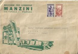 """5310 """" MACCHINE PER CONSERVE MANZINI-PARMA"""" -(SOLO BUSTA) ORIG. - Italy"""