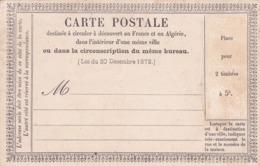 Carte Postale Précurseur  Type 1 Neuve - Postal Stamped Stationery