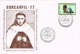 34018. Carta Exposicion BARCELONA 1979.  EURCARFIL 77, Virgen De La Estrada, Padre Agustin Hermann Cohen - 1931-Hoy: 2ª República - ... Juan Carlos I