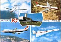 Thème - Avion - Aéroport Bâle Mulhouse - Swissair - Air France - Concorde - Boeing 747 - Andere