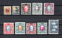 Lituania  1922  .-   Y&T  Nº    110-115-117/119-121/124-128      (   128  Doblez  ) - Lituania