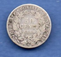 Cérès    -  50 Centimes 1888 A  - TB - Frankreich
