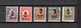 Lituania  1922  .-   Y&T  Nº    140-143-147-149/150 - Lituania