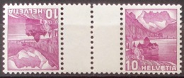 """KD Mit Zwischensteg """"Chillon1937"""": Zu S48y (glatt-lisse) Mi KZ10y1C ** MNH (Zu CHF 8.50) - Kehrdrucke"""
