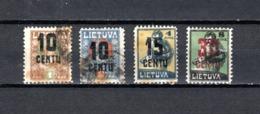 Lituania  1922  .-   Y&T  Nº    159/160-163-169 - Lituania