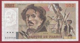"100 Francs ""Delacroix"" 1979 ---F/TTB+--ALPH .T.16 - 100 F 1978-1995 ''Delacroix''"