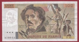 """100 Francs """"Delacroix"""" 1980 ---VF/SUP--ALPH .D.22 - 100 F 1978-1995 ''Delacroix''"""