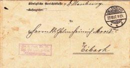1 Brief Von Dillenburg Nach Eibach Aus Dem Jahr 1907 - Documents Historiques