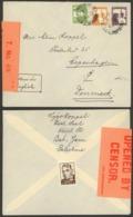 Palestine, Tel Aviv 1939, Censored Cover To Denmark ( Ref.1898) - Palestina