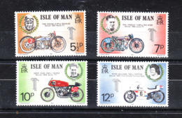 Man - 1975. Tourist Trophy: Piloti E Moto Vincitori. Winning Drivers And Motorcycles. Complete MNH Series - Motorbikes