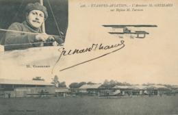 """M. GRESSARD  - Signature AUTOGRAPHE Sur CP """" ETAMPES AVIATION L'Aviateur Sur Biplan Farman """" - Flieger"""
