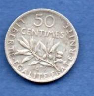 Semeuse   -  50 Centimes 1899  -- TTB - Frankreich
