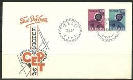 Norway 1967 Mi 555-556 FDC ( FDC ZE3 NRW555-556 ) - Factories & Industries