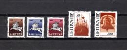 Lituania  1991  .-   Y&T  Nº    398/402 - Lituania