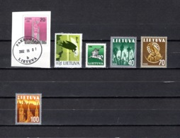 Lituania  1991  .-   Y&T  Nº    403-404-405-406/408 - Lituania