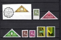 Lituania  1991  .-   Y&T  Nº    409-410/412-412A/412B-413/414 - Lituania
