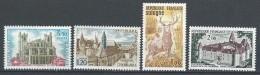"FR YT 1712 1713 1725 1726 "" Sites Touristiques "" 1972 Neuf** - France"