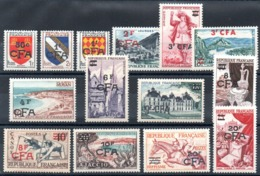 REUNION - YT N° 307 à 319 - Neufs ** - MNH - Cote: 215,00 € - Reunion Island (1852-1975)
